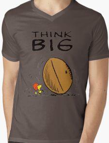 Woodstock Peanuts Think Big Mens V-Neck T-Shirt