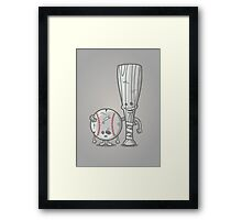 Bat-tered Framed Print