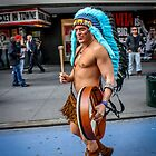The Naked Indian of Times Square by Mikell Herrick
