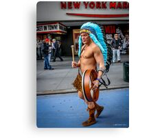 The Naked Indian of Times Square Canvas Print