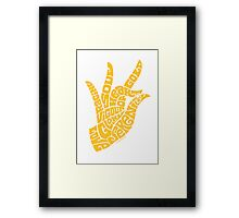 heart in hand in rich yellow Framed Print