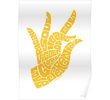 heart in hand in rich yellow Poster