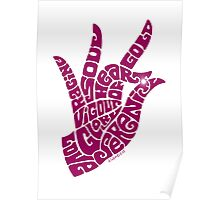 heart in hand in vivid wine Poster