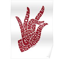 heart in hand in warm red Poster