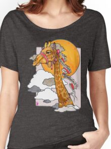 How's the weather up there? - tall giraffe shirt Women's Relaxed Fit T-Shirt