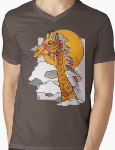 How's the weather up there? - tall giraffe shirt Mens V-Neck T-Shirt