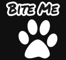 Bite Me Hoodie [White on Black] by NicksChick
