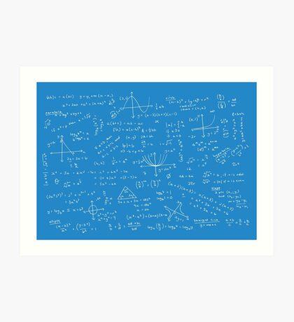 Algebra Math Sheet 2 Art Print