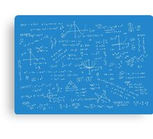 Algebra Math Sheet 2 Canvas Print