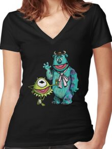 Muppets Inc. Women's Fitted V-Neck T-Shirt