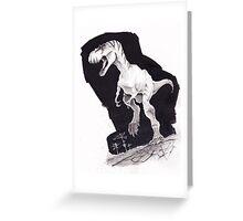 Sprinting Gorgosaurus libratus Greeting Card