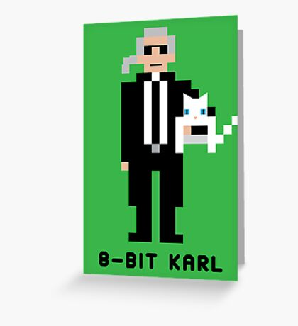 8-Bit Karl Greeting Card