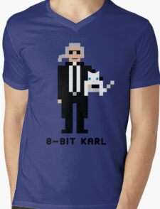 8-Bit Karl Mens V-Neck T-Shirt
