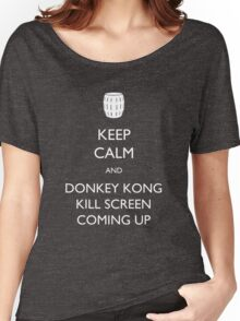 Keep Calm and Donkey Kong Kill Screen Women's Relaxed Fit T-Shirt