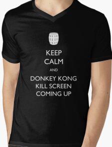 Keep Calm and Donkey Kong Kill Screen Mens V-Neck T-Shirt