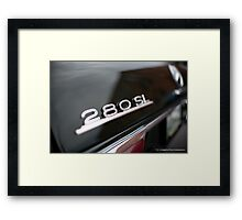 Mercedes 280SL detail Framed Print