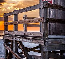 Lifeguard Tower at Sunset by EdwardKay