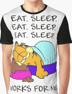 Garfield Eat Sleep Graphic T-Shirt