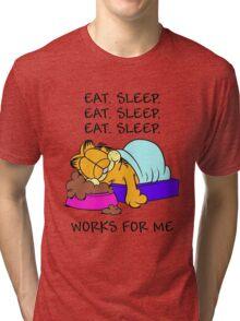 Garfield Eat Sleep Tri-blend T-Shirt