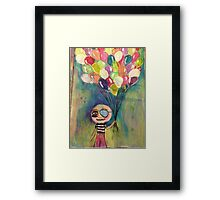 Balloon Pirate Framed Print