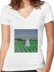 Happy Snowman Clothing Women's Fitted V-Neck T-Shirt