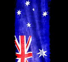 Australian Flag, Downunder, Aussie flag by Val  Brackenridge