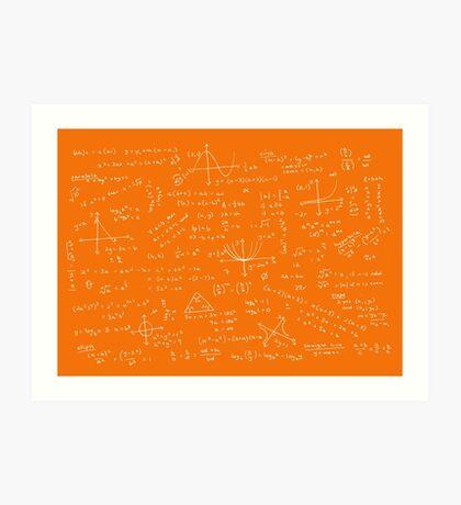 Algebra Math Sheet 3 Art Print