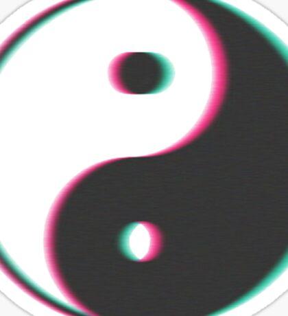 Trippy Yin Yang Sticker