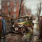 Car Accident - Watch for ice 1921 by Mike  Savad