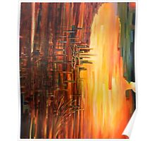 Abstract Contemporary Art - City of Sorrow Poster