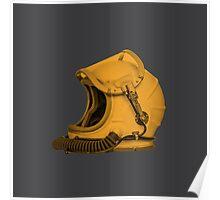 Space Helmet (Yellow) Poster