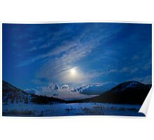 Moonlight Over Tahoe Meadows Poster