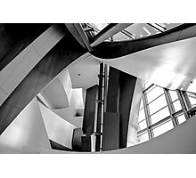 Disney Music Hall abstract black and white Photographic Print