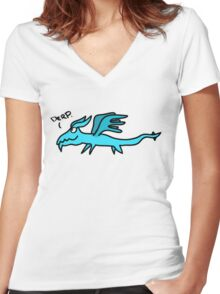 Derpy Dragon Women's Fitted V-Neck T-Shirt