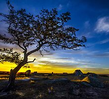 Sunset over Dog Rocks - Batesford Victoria - 2013 by bekyimage