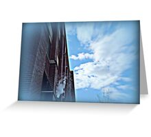 Manufacturing Clouds on Commerce St. Greeting Card
