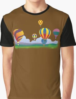 Hot Air Balloons T-Shirt. Graphic T-Shirt