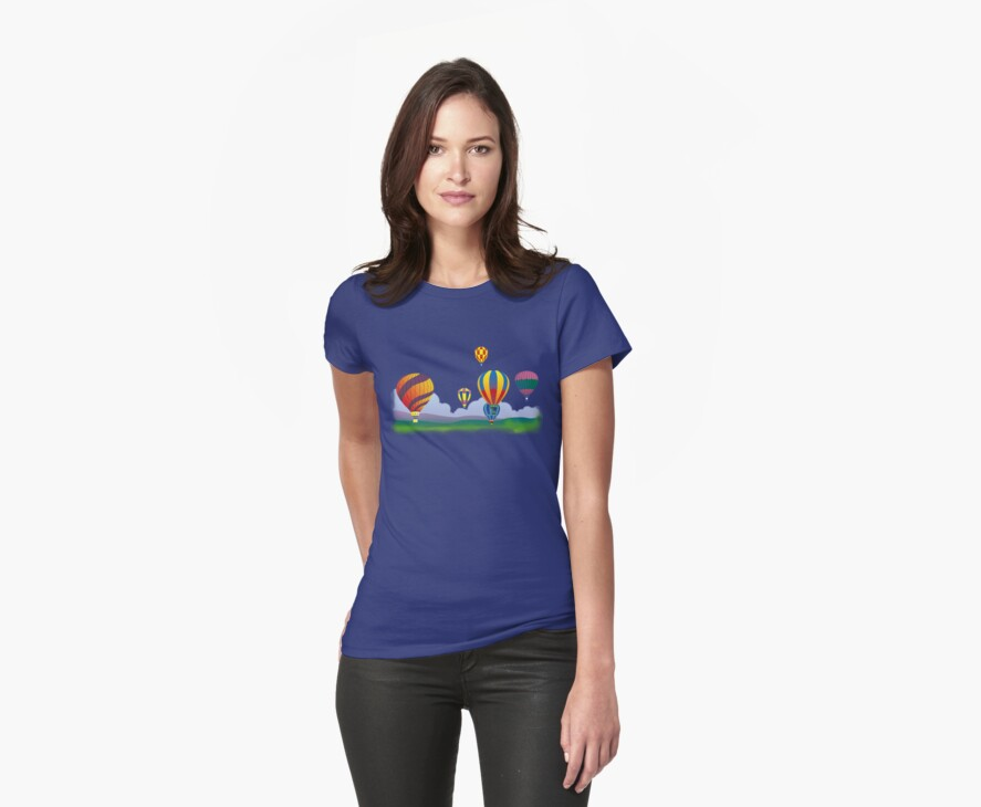 Hot Air Balloons T-Shirt. by Walter Colvin