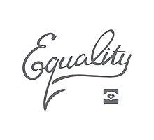 Equality - Grey Photographic Print