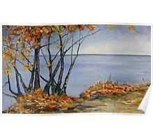 Sliced with a Tear a large Canadian Landscape painting Poster