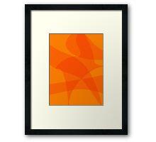 Orange Popsicle Framed Print