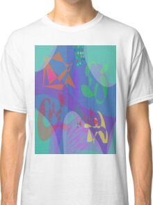 Four People at Table Classic T-Shirt