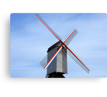 Traditional old windmill in Belgium Canvas Print