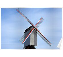 Traditional old windmill in Belgium Poster