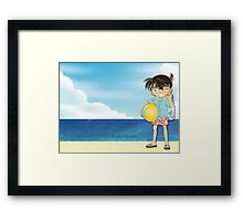 Detective Conan:  Go To The Beach Framed Print