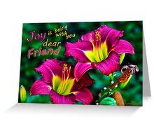 Joy Dear Friend Greeting Card