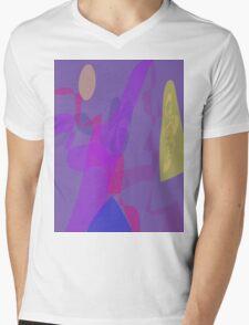 Blue Mountain Oriental Mens V-Neck T-Shirt