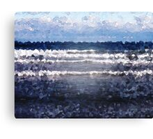 White Cap Waves Canvas Print