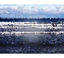 White Cap Waves Photographic Print
