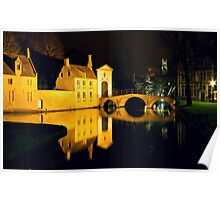 The Bridge And The Convent Entrance In Bruges Poster